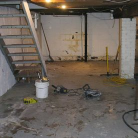 Basement before underpinning.